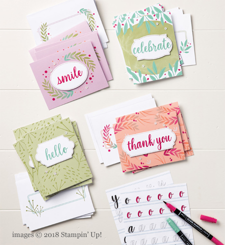 Stampin' Up! Calligraphy Essentials Project Kitshared by Dawn Olchefske #dostamping  #stampinup #handmade #cardmaking #stamping #rubberstamping #calligraphy