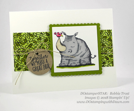 Stampin' Up! Animal Outing cards shared by Dawn Olchefske #dostamping  #stampinup #handmade #cardmaking #stamping #diy #rubberstamping #papercrafting #animalouting (Bobbie Trost)