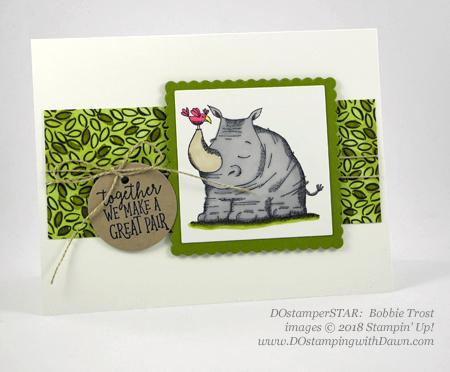 Stampin' Up! Animal Outing cards shared by Dawn Olchefske #dostamping #stampinup #handmade #cardmaking #stamping #diy #rubberstamping #papercrafting #animalouting (Bobbie Trost)