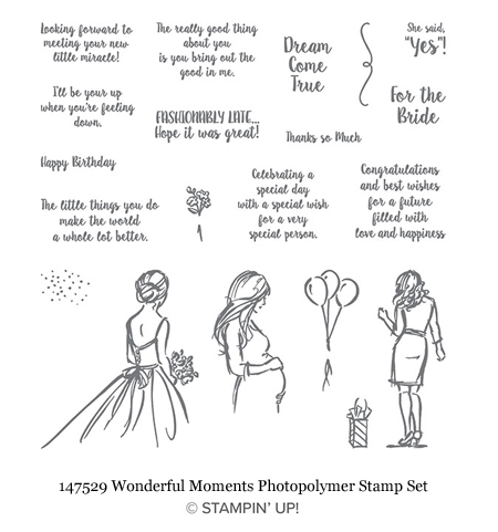 147529-Wonderful-Moments from Stampin' Up!, great for brides, birthdays & babies #dostamping #shopwithdawn
