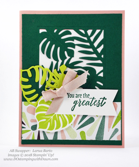 Stampin' Up! Tropical Escape Designer Series Paper swaps shared by Dawn Olchefske #dostamping  #stampinup #handmade #cardmaking #stamping #papercrafting (Laura Barto)