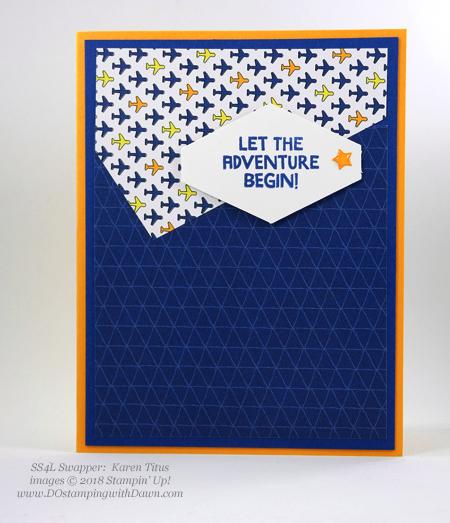 Stampin' Up! Best Route Designer Series Paper swaps shared by Dawn Olchefske #dostamping #stampinup #handmade #cardmaking #stamping #papercrafting (KarencTitus)
