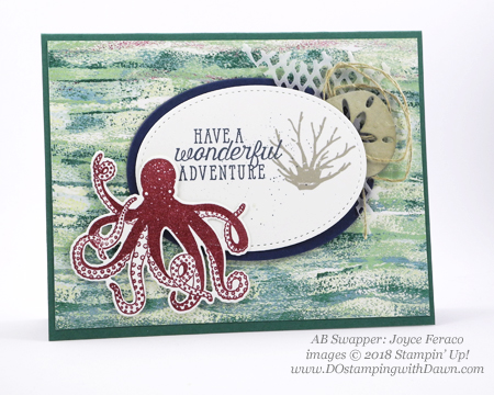 Stampin' Up! Tranquil Textures Designer Series Paper swaps shared by Dawn Olchefske #dostamping #stampinup #handmade #cardmaking #stamping #papercrafting (Joyce Feraco)