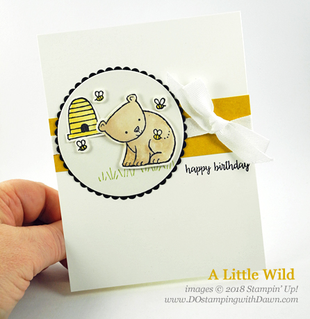 Stampin' Up! A Little Wild birthday card shared by Dawn Olchefske #dostamping #stampinup #handmade #cardmaking #stamping #papercrafting#birthdaycards