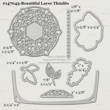Beautiful Layers-147043-DOstamping Stampin' Up! Framelits Measurements sizes for 2018-2019 Annual Catalog #stampinup #dostamping #framelitsizes