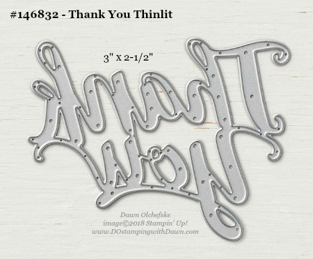 Thank You Thinlit-146832-DOstamping Stampin' Up! Framelits Measurements sizes for 2018-2019 Annual Catalog #stampinup #dostamping #framelitsizes
