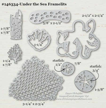 Under the Sea-146334-DOstamping Stampin' Up! Framelits Measurements sizes for 2018-2019 Annual Catalog #stampinup #dostamping #framelitsizes