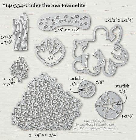 Under the Sea-146334-DOstamping Stampin' Up! Framelits Measurements sizes for 2018-2019 Annual Catalog #stampinup #dostamping #framelitsizes
