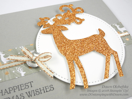 Stampin' Up! Dashing Deer Bundle card by Dawn Olchefske for DOstamperSTARS Thursday Challenge #DSC296 #dostamping #stampinup #handmade #cardmaking #stamping #diy #papercrafting #christmascards #dashingdeer