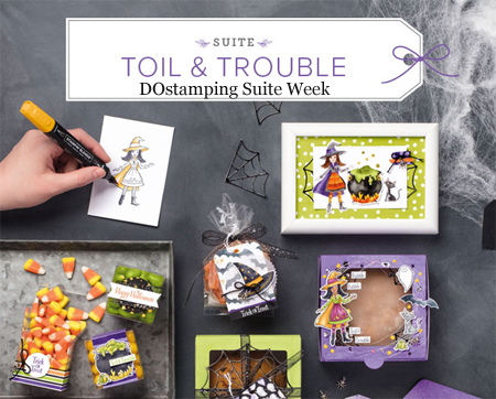 Stampin' Up! Toil & Trouble Suite Week from Dawn Olchefske #dostamping  #stampinup #handmade #cardmaking #stamping #diy #papercrafting #halloween #packagingideas #spidercider