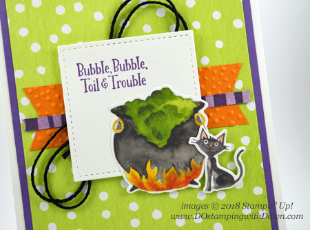 Stampin' Up! Toil & Trouble Suite Week -Day 4 Cauldron Bubble Bundle card shared by Dawn Olchefske #dostamping  #stampinup #handmade #cardmaking #stamping #diy #papercrafting #halloween  #cauldronbubble