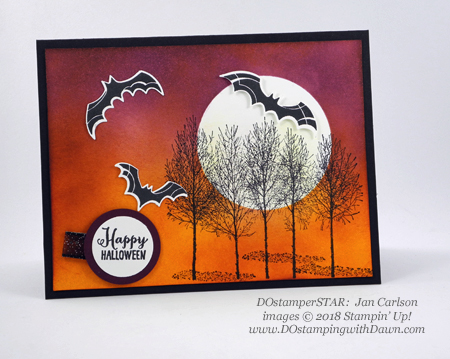 13 Halloween cards using Stampin' Up! 2018 Holiday product shared by Dawn Olchefske #dostamping #stampinup #handmade #cardmaking #stamping #diy #papercrafting#halloweencards (DOstamperSTAR-Jan Carlson)