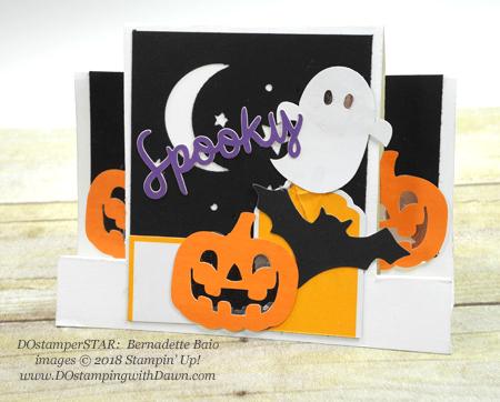 13 Halloween cards using Stampin' Up! 2018 Holiday product shared by Dawn Olchefske #dostamping #stampinup #handmade #cardmaking #stamping #diy #papercrafting#halloweencards (DOstamperSTAR: Bernadette Baio)