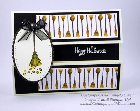13 Halloween cards using Stampin' Up! 2018 Holiday product shared by Dawn Olchefske #dostamping  #stampinup #handmade #cardmaking #stamping #diy #papercrafting #halloweencards (DOstamperSTAR: Angela O'Neill)
