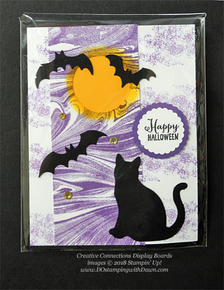 13 Halloween cards using Stampin' Up! 2018 Holiday product shared by Dawn Olchefske #dostamping #stampinup #handmade #cardmaking #stamping #diy #papercrafting#halloweencards (Creative Connections Display)