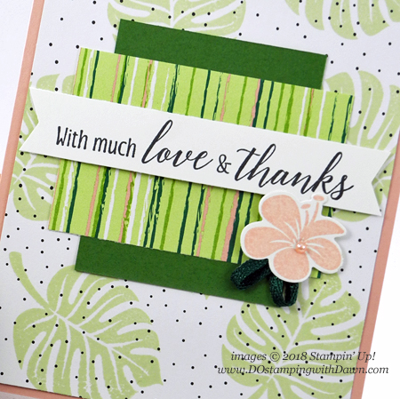 Stampin' Up! Tropical Chic card shared by Dawn Olchefske for DOstamperSTARS Thursday Challenge #DSC303 #dostamping #stampinup #handmade #cardmaking #stamping  #papercrafting #tropicalescape