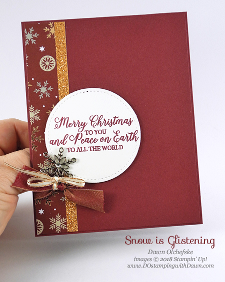 Stampin' Up! Snow is Glistening by Dawn Olchefske for DOstamperSTARS Thursday Challenge #DSC304 #dostamping #stampinup #handmade #cardmaking #stamping #papercrafting #christmascards #snowisglistening