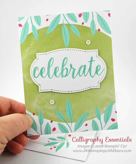 Stampin' Up! Calligraphy Essentials Project Kit shared by Dawn Olchefske #dostamping  #stampinup #handmade #cardmaking #stamping #rubberstamping #calligraphy