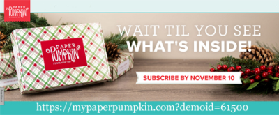 Subscribe by Nov 10 to receive the Holiday Paper Pumpkin kit - https://bit.ly/DOstampingPaperPumpkin #paperpumpkin #dostamping