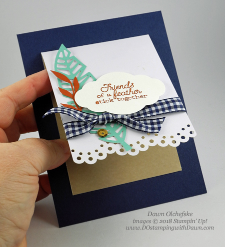 Friends of a Feather October 2018 Paper Pumpkin Kit ideas by Dawn Olchefske #stampinup #paperpumpkin #cardmaking #cardkit #rubberstamping #diy #friendsofafeather