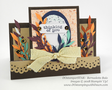 Friends of a Feather October 2018 Paper Pumpkin Kit idea shared by Dawn Olchefske #stampinup #paperpumpkin #cardmaking #cardkit #rubberstamping #diy #friendsofafeather (Bernadette Baio)