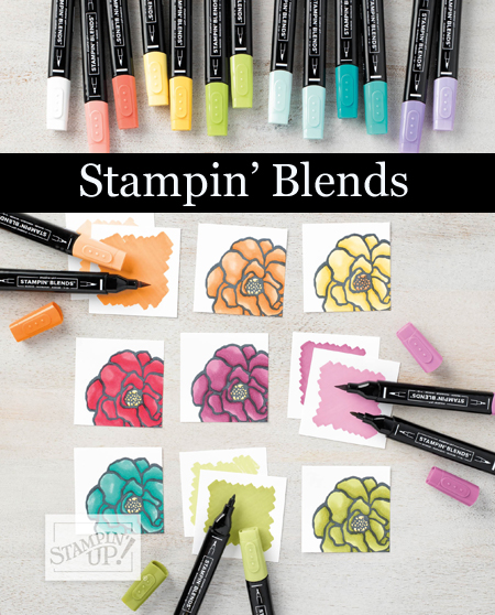 Stampin' Blends are now in stock!  Dawn Olchefske, Stampin' Up! demonstrator #dostamping  #stampinup #handmade #papercrafting #stampinblends