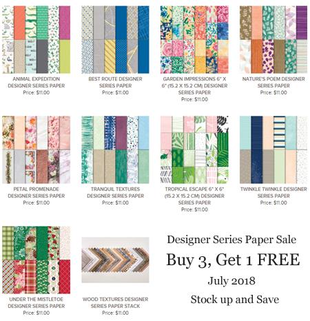 Stampin' Up!Designer Series Paper Sale - Buy 3, Get 1 FREE, Shop with Dawn Olchefske at http://dostamping.stampinup.net  #dostamping #stampinup #handmade #cardmaking #papercrafting