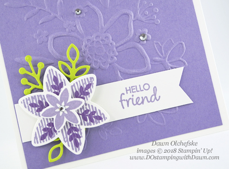 Stampin' Up! Happiness Surrounds card shared by Dawn Olchefske #dostamping #stampinup #handmade #cardmaking #stamping #papercrafting#happinesssurrounds #snowflakeshowcase