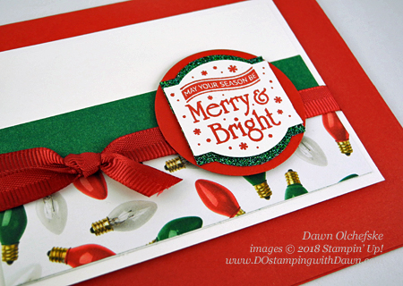 Stampin' Up! Christmas Traditions Punch Box card from Dawn Olchefske #dostamping  #stampinup #handmade #cardmaking #stamping #papercrafting #how