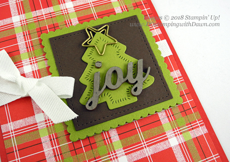 Stampin' Up! Sweetly Stitched & Under the Mistletoe DSP card shared by Dawn Olchefske for DOstamperSTARS Thursday Challenge -  #DSC306 #dostamping #stampinup #handmade #cardmaking #stamping #papercrafting #howdshedothat