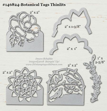Stampin' Up! Botanical Tags Thinlits #dostamping #stampinup #BotanicalTags #bigshot #diy #handmade #cardmaking