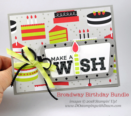 Wrapping up my Broadway Bound Suite Week Day 5 from Dawn Olchefske #dostamping  #stampinup #handmade #cardmaking #stamping #papercrafting #birthdaycards #broadwaybound #stampingtechnique #omittingtechnique