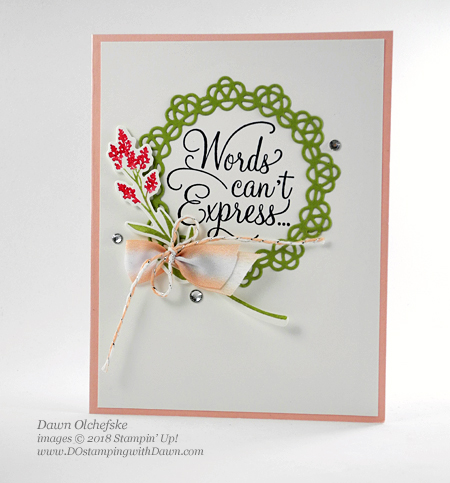 Stampin' Up! Dear Doily Bundle card by Dawn Olchefske - available 1/3/2019 #dostamping #howdshedothat #stampinup #handmade #cardmaking #stamping #papercrafting