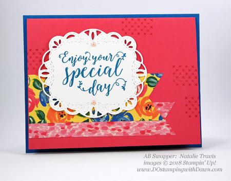 Stampin' Up! Garden Impressions Designer Series Paper swaps shared by Dawn Olchefske #dostamping #stampinup #handmade #cardmaking #stamping #papercrafting(Natalie Travis)