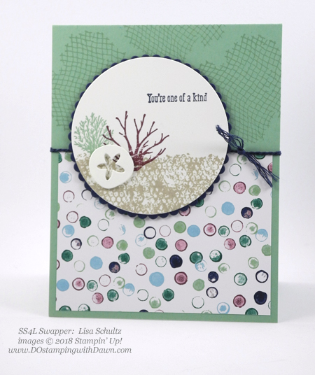 Stampin' Up! Tranquil Textures Designer Series Paper swaps shared by Dawn Olchefske #dostamping #stampinup #handmade #cardmaking #stamping #papercrafting (Lisa Schultz)