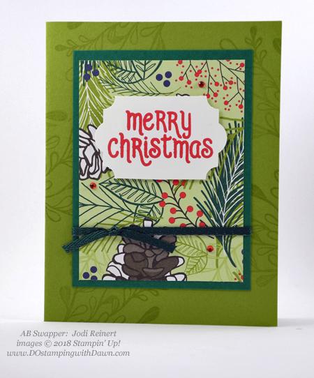Stampin' Up! Under The Mistletoe Designer Series Paper swaps shared by Dawn Olchefske #dostamping #stampinup #handmade #cardmaking #stamping #papercrafting (Jodi Reinert)