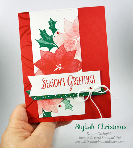 Stampin' Up! Stylish Christmas card by Dawn Olchefske for DOstamperSTARS Thursday Challenge #DSC291 #dostamping #stampinup #handmade #cardmaking #stamping #rubberstamping #papercrafting #christmascards