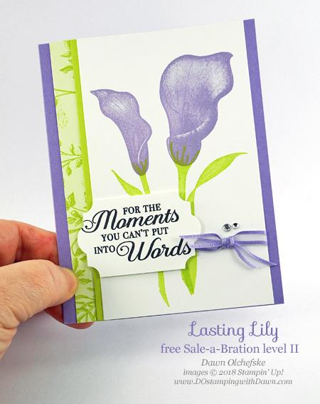 DOstamperSTARS Sale-a-Bration Blog Hop -Botanical Butterfly Designer Series Paper Lasting Lily card by Dawn Olchefske #dostamping #howdshedothat #stampinup #cardmaking #stamping #papercrafting#dostamperstars
