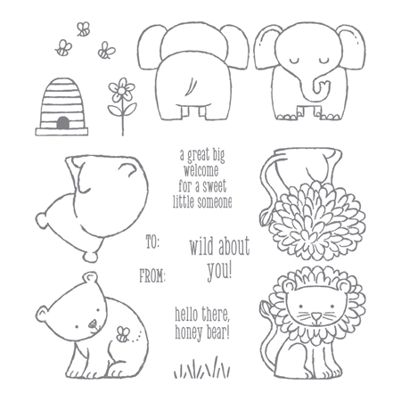 A Little Wild stamp set