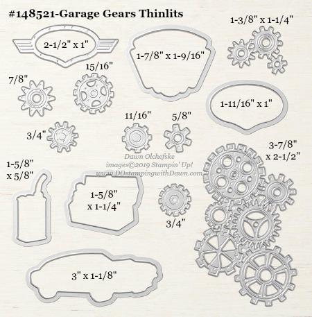 Stampin' Up! Garage Gears Thinlits #DOstamping #stampinup #GarageGears #bigshot #cardmaking #HowdSheDOthat #papercrafting
