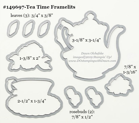 Stampin' Up! Tea Time Framelit #DOstamping #stampinup #TeaTime #bigshot #cardmaking #HowdSheDOthat #papercrafting