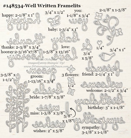 Stampin' Up! Well Written Framelits #DOstamping #stampinup #WellWritten #bigshot #cardmaking #HowdSheDOthat #papercrafting