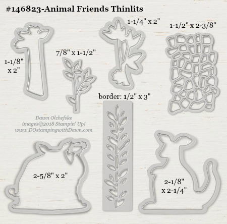 Stampin' Up! Animal Friends Thinlit #dostamping #stampinup #animalfriends #bigshot #diy #handmade #cardmaking
