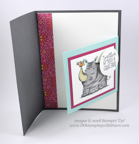 Stampin' Up! Animal Outing Bundle & Animal Expedition Designer Series Paper projects shared by Dawn Olchefske #dostamping  #stampinup #handmade #cardmaking #stamping #papercrafting #animalouting #animalexpedition #funfold