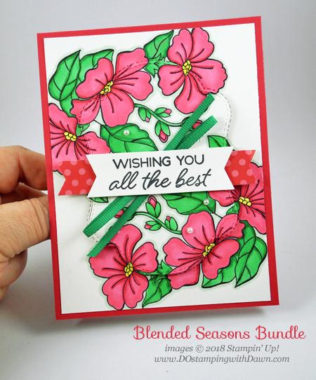 Stampin' Up! Blended Seasons Bundle card shared by Dawn Olchefske #dostamping #stampinup #handmade #cardmaking #stamping #papercrafting #blendedseasons