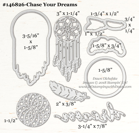 Chase-Your-Dreams-146826-DOstamping Stampin' Up! Framelits Measurements sizes for 2018-2019 Annual Catalog #stampinup #dostamping #framelitsizes