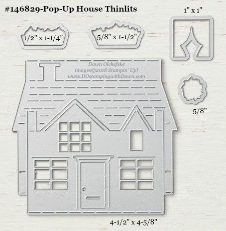 Pop Up House - 146829-DOstamping Stampin' Up! Framelits Measurements sizes for 2018-2019 Annual Catalog #stampinup #dostamping #framelitsizes