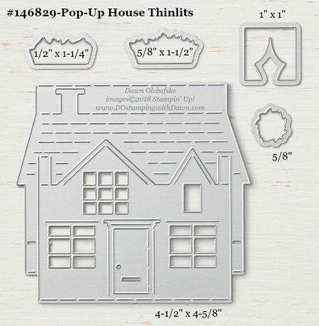 Pop Up House - 146829-DOstamping Stampin' Up! Framelits Measurements sizes for 2018-2019 Annual Catalog #stampinup #dostamping #framelitsizes
