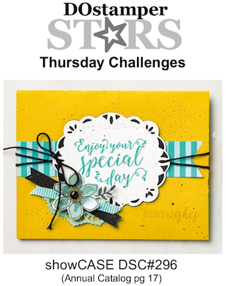 DOstamperSTARS Thursday Challenge #DSC296 showCASE Annual Catalog pg 17 #dostamping #stampinup #handmade #cardmaking #stamping #diy