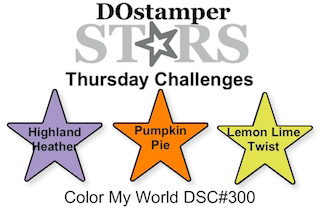 DOstamperSTARS Thursday Challenge #DSC300 Color My World #dostamping #stampinup #handmade #cardmaking #stamping #diy